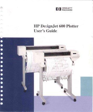 DesignJet 600 Plotter User's Guide - SJD Trucking