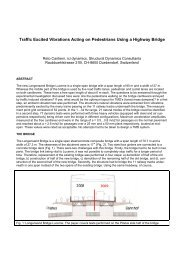 Traffic Excited Vibrations Acting on Pedestrians Using ... - rci dynamics