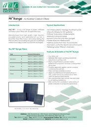 PR Range - Activated Carbon Filters