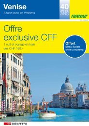 Venise - Offre exclusive CFF - Railtour