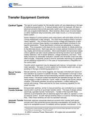 T011 Transfer Switch Application Manual
