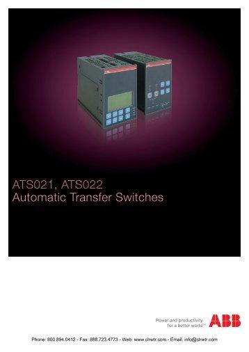ABB ATS021 & ATS022 Automatic Transfer Switch