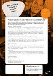 Auto body repair technician training - Lernia