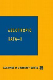 AZEOTROPIC DATA- II
