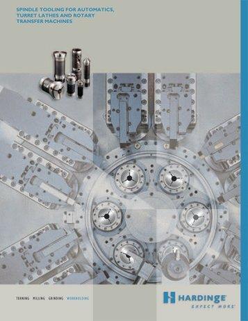 spindle tooling for automatics, turret lathes and rotary - Hardinge Inc.