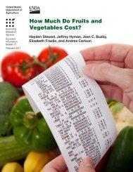 How Much Do Fruits and Vegetables Cost?