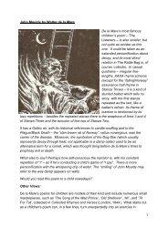 John Mouldy by Walter de la Mare - Hellesdon.org
