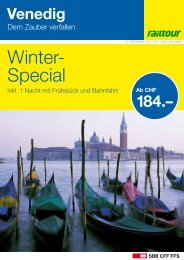 Venedig - Dem Zauber verfallen - Railtour
