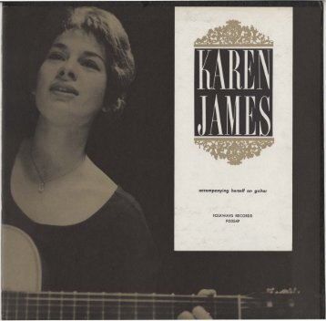 KAREN JAMES accompanying herself on the guitar
