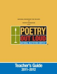 Teacher's Guide - Poetry Out Loud