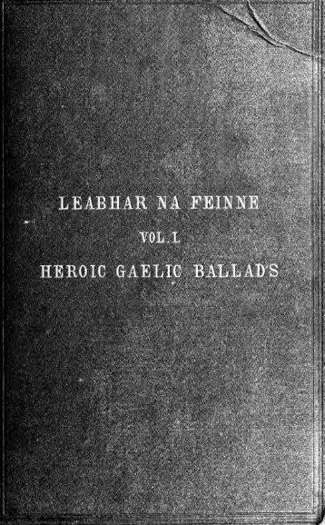 Leabhar na Feinne : heroic Gaelic ballads collected in Scotland ...
