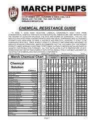 Chemical Resistance Chart - March Pumps