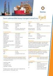 Semi-submersible heavy transport vessel m.v. Fjell - Fairstar