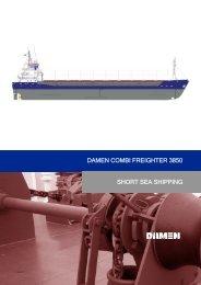 short sea shipping damen combi freighter 3850 - damen shipyards ...