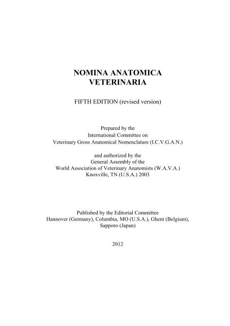 Nomina Anatomica Veterinaria World Association Of Veterinary Free learning resources for students covering all major areas of biology. nomina anatomica veterinaria world