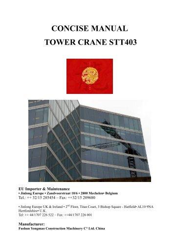 Manual Of tower Crane