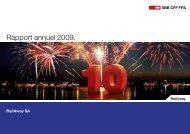 Rapport annuel 2009. - RailAway