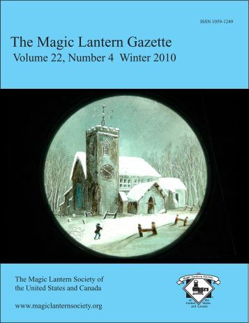 The Magic Lantern Gazette - Library - San Diego State University