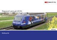 Rapport annuel 2010. - RailAway