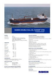 damen double hull oil tanker® 5700 - damen shipyards bergum