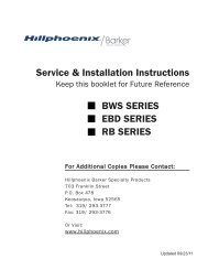 Service & Installation Instructions BWS SERIES EBD ... - Hill Phoenix