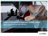 Vessel Performance Management Service (VPMS) - ASNE