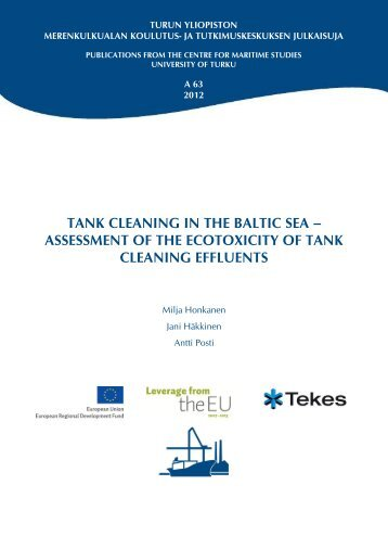 TANK CLEANING IN THE BALTIC SEA – ASSESSMENT ... - Merikotka