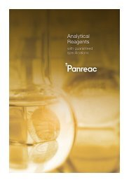 Analytical Reagents with guaranteed specifications - Panreac