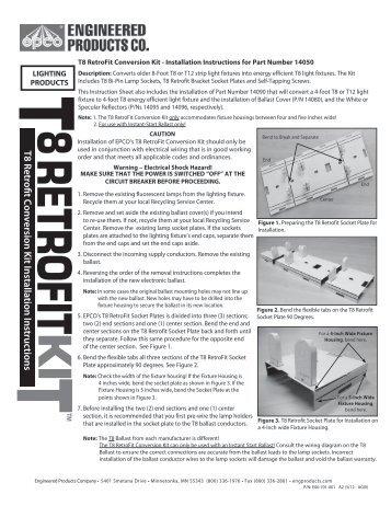 T8 Retrofit Conversion Kit Installation Instructions - Engineered ...