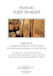 Einladungskarte 2009 - Schwarzenbach Weinbau
