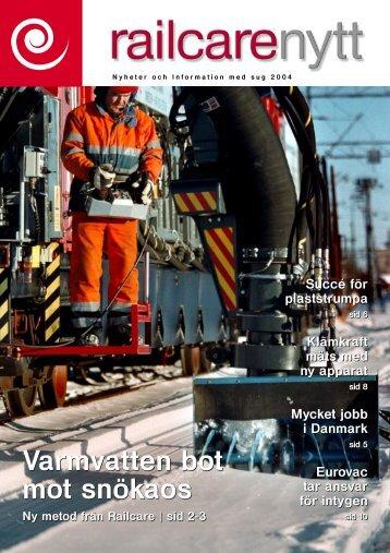 Varmvatten bot mot snökaos Varmvatten bot mot snökaos - Railcare