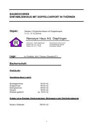 Bauherrschaft: Gebäude - Ramseyer Haus AG