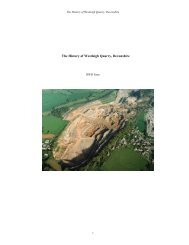 The History of Westleigh Quarry, Devonshire - Aggregate Industries