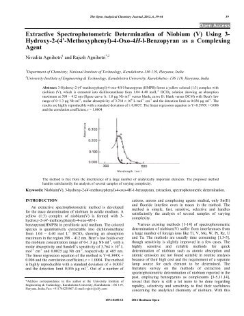 spectrophotometric methods the determination of iron We describe a spectrophotometric method to determine the sum of fe(ii) plus fe( iii) in hcl and oxalate extracts the principle of the method is to reduce fe(iii).
