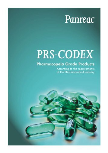 PRS-CODEX, Pharmacopeia Grade Products