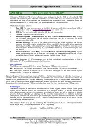 Alphasense Application Note AAN 305-03 VOC Correction Factor ...