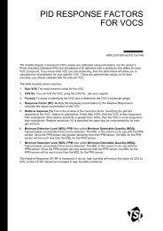PID Response Factors for VOCs Application Note TSI-148