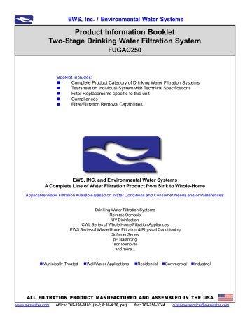 fugac250 - Environmental Water Systems