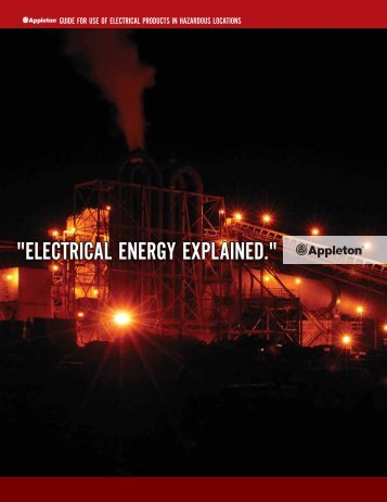 Appleton Guide for Use of Electrical Products in - Emerson Industrial ...