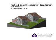 Neubau 2 Einfamilienhäuser mit Doppelcarport - Ramseyer Haus AG