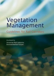 Vegetation Management – Guidelines For Rail Corridors - VicTrack