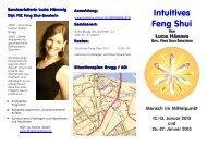 Intuitives Feng Shui Flyer - Feng Shui Center Baden-Brugg