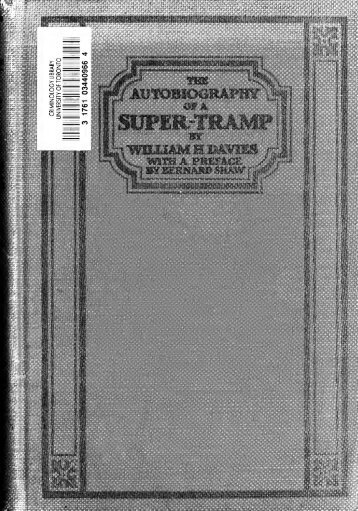 The avtobiography of a svper-tramp