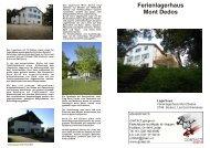 Ferienlagerhaus Mont Dedos - CONTACT groups.ch