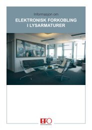 ELEKTRONISK FORKOBLING I LYSARMATURER - Glamox