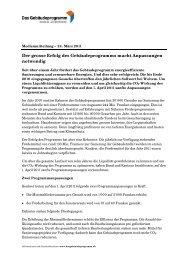 2011-03-24 Medienmitteilung Das Gebäudeprogramm
