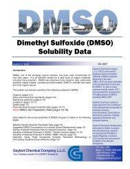 Dimethyl Sulfoxide (DMSO) Solubility Data - Gaylord Chemical