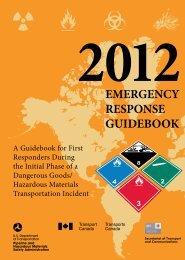 EMERGENCY RESPONSE GUIDEBOOK - PHMSA