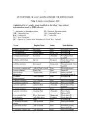 1 AN INVENTORY OF VASCULAR PLANTS FOR ... - Sefton Coast