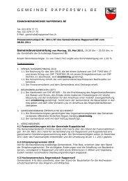 Presseschau Gemeinderat Juni 2011